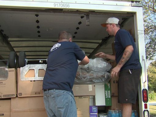 "Milwaukee area movers haul donated items to hurricane victims; ""We always believe in helping out""."